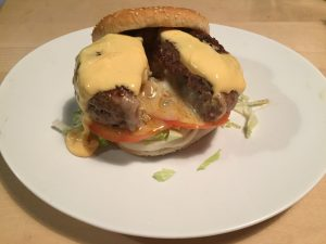 Action Burger - The Juicy Blucy